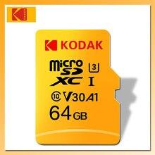 KODAK SD Micro tarjeta 128GB 64GB 32GB 16GB U1 tarjeta sd Micro 4K U3 256GB cartao 512GB de memoria de tarjeta TF tarjeta de memoria Class 10