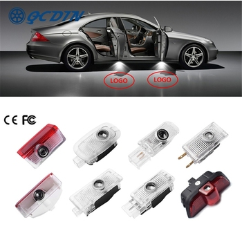 QCDIN for Mercedes Benz OEM LED Car Welcome Light Door Logo Light Projector Light for Mercedes Benz No Drilling