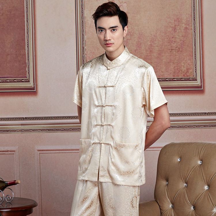 Support Mixed Batch Short Sleeve Chinese Costume 2519-1 Men This Year New Style Listed Tai Chi Kung Fu Shirt