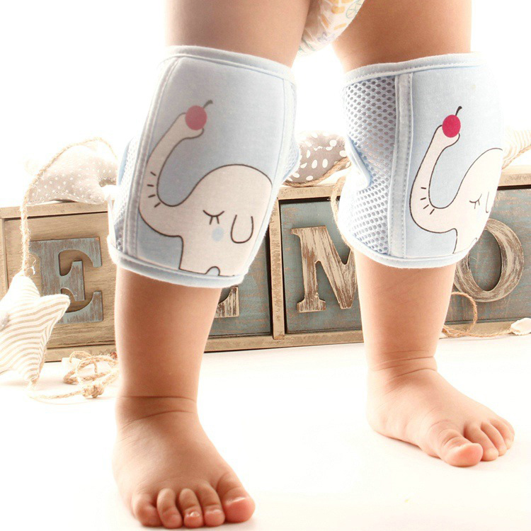 1 Pair Knee Pads Thicken Crawling Elbow Infants Leg Warmer Pad Breathable Pad Knee Protector Baby Safety Accessory Thicken