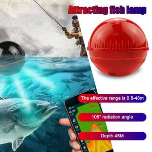 XA02 Smart Echo Sounder Portable Wireless Fish Finder Sonar 48m Detector Fishing Alarm IOS&Android for Dock, Shore, Boat,Fishing