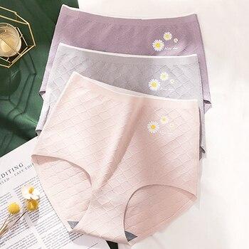 2020 Sexy Women Panties Cotton Briefs Seamless Underwear High Waist Pants Soft Lingerie Female Underpants Intimates Thongs #F women cotton underwear sexy panties seamless underpants for female pure cotton soft briefs mid waist briefs lingerie for women