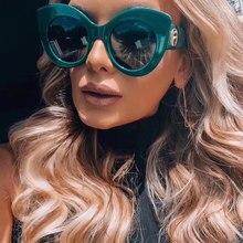 Emosnia cateye 선글라스 여성용 빈티지 그라디언트 안경 클래식 고양이 눈 바이저 선글라스 여성용 안경 uv400