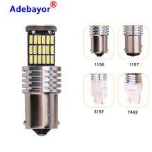 100 X accessoires de voiture 45 SMD 4014 LED 1156 BA15S P21W 1157 BAY15D 7443 7440 canbus indicateur tourner côté lumière Parking ampoule lampe