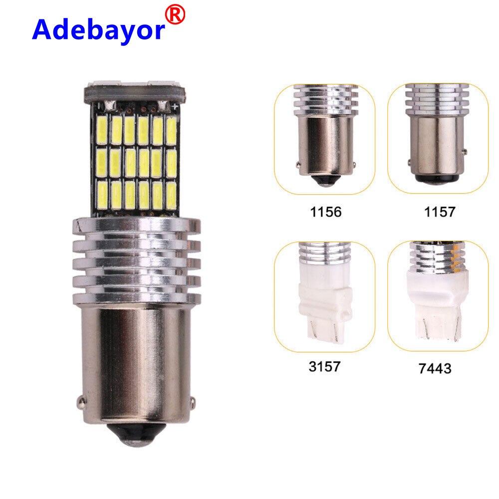 100 X accesorios para coche 45 SMD 4014 LED 1156 BA15S P21W 1157 BAY15D 7443 7440 canbus indicador de giro luz lateral bombilla de estacionamiento