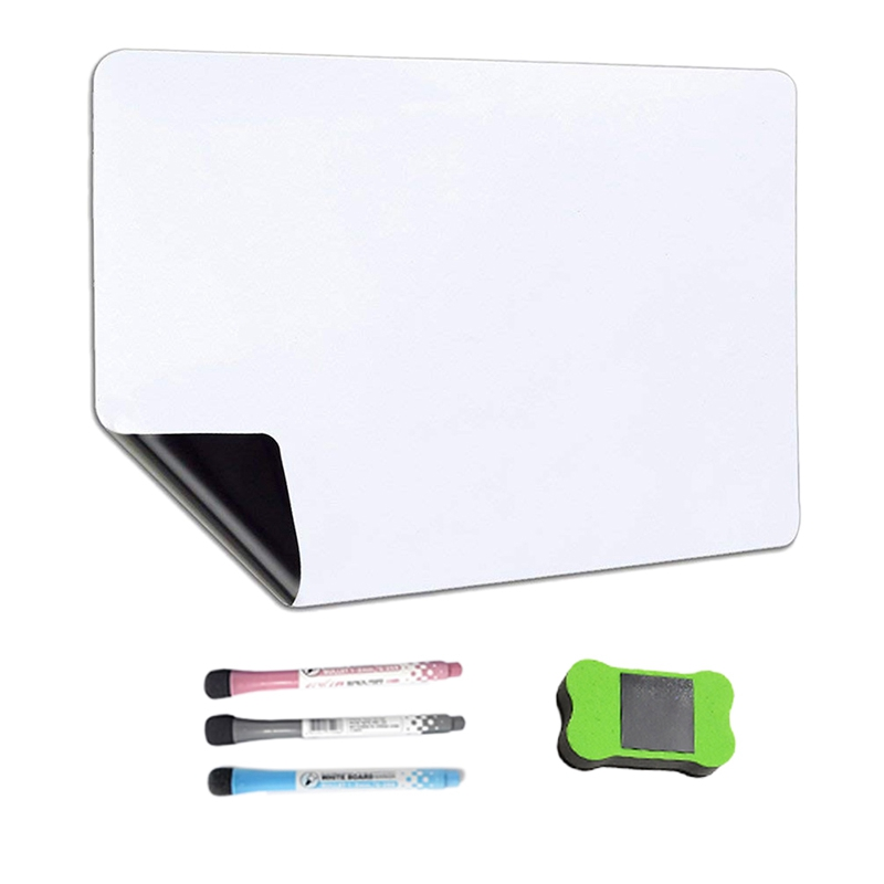 Magnetic Dry Erase Whiteboard Calendar For Refrigerator With 3 Pens And Large Eraser,For Notes Weekly Planning Drawing