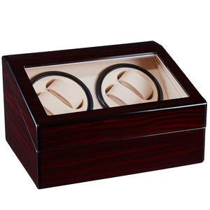 Luxury Automatic Watch Winder Box Wooden 4+6 Watches Winding Storage Box Collection Holder Display Silent Motor Shaker Box