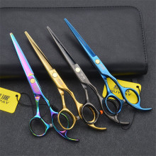 Professional Japan 440c 6 inch cut hair scissors set cutting shears thinning barber scissor hairdressing scissors цена 2017