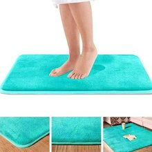 Bathroom Carpet Mat Toilet Memory-Foam-Rug Floor-Decor Non-Slip Kitchen 6-Colors Home