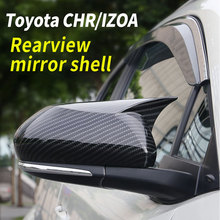 цена на Rearview Mirror Shell Side Wing Mirror Cover Carbon Fiber Styling Side Mirror Covers For Toyota CRH/IZOA 2018-2020