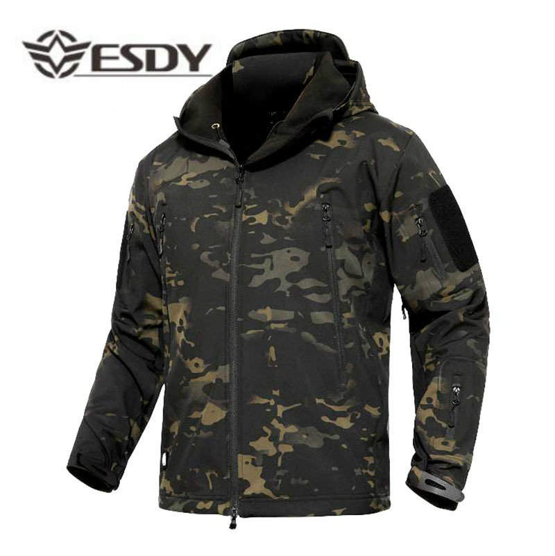 Outdoor Winter Warm Männlichen Wandern Jacken Military Camouflage Fleece Jacken Neue Multicolor Winddicht Warme Wasserdichte Windjacken