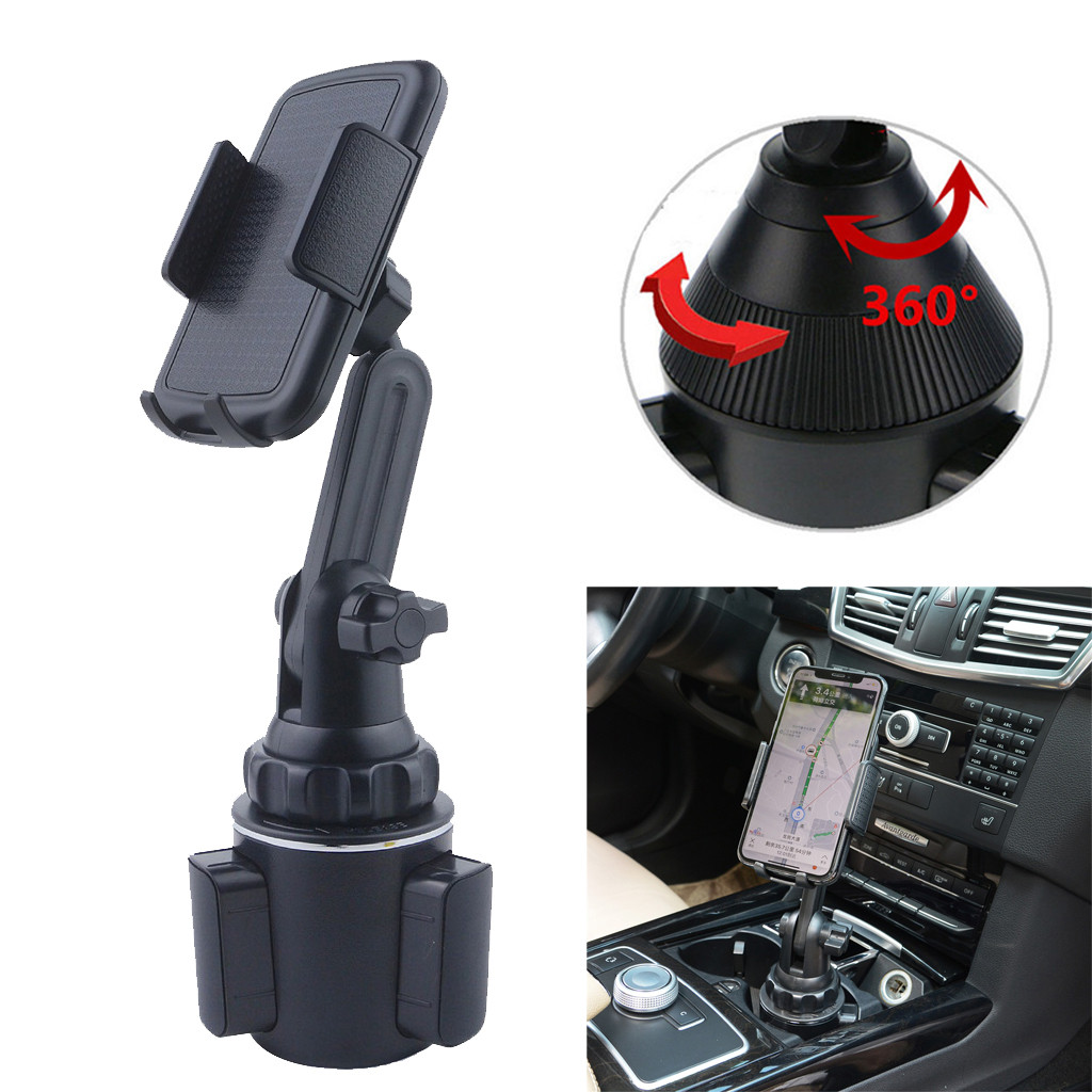 Universal Adjustable Cup Holder Car Mount For Cell Phones WeatherTech Car Cellphone Holder Stand for Iphone 11 Pro Max