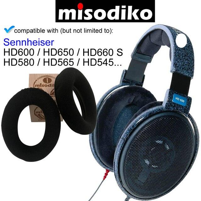 Misodiko Ersatz Ohr Pads Kissen Kit für Sennheiser HD650, HD600, HD580, HD660 S, HD565, HD545, Kopfhörer Reparatur Ohrpolster