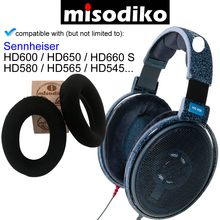 Misodiko החלפת אוזן רפידות כריות ערכת עבור Sennheiser HD650, HD600, HD580, HD660 S, HD565, HD545, אוזניות תיקון Earpads