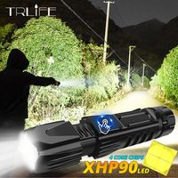 XLamp XHP90 The Most Powerful Usb Zoomable Led Flashlight Xhp70.2 Tactical Flash Light Torch by 26650 With Smart chip control