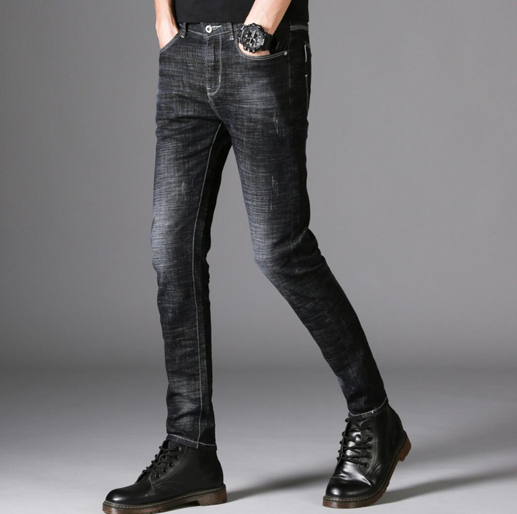 Spring And Autumn Men's Jeans 2020 New Slim Feet Pants Youth Men's Casual Jeans H6182-1-13