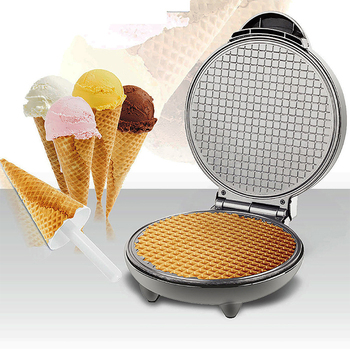 Home Breakfast Egg Roll Machine Waffle Maker Ice Cream Reel Skin Electric Baking Pan Pancake Machine Kitchen Cooking Appliances stainless steel electric waffle maker commercial single head ice cream cone baker machine waffle cone egg roll making machine