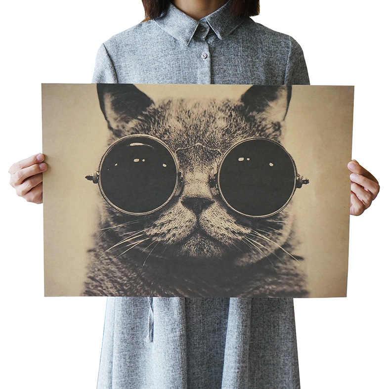 DLKKLB الفيلم ريترو المشارك الفن زينة خمر أنيمي يطبع غرفة المعيشة اللوحة الزخرفية مقهى كرافت ورقة ملصقات جدار