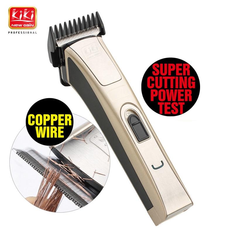 KIKI Newgain.3 In 1 Rechargeable Hair Clipper Zinc-plated Titanium Blade 1200mAh NI-MH Battery Professional Hair Trimmer