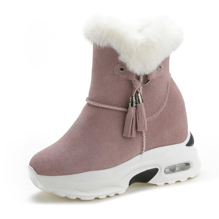 Image 2 - Snow Boots Women Shoes Woman Boots Winter Boots Ankle Boots Thick Increased 2019 Winter New Warm Comfortable Casual Boots X165-in Ankle Boots from Shoes