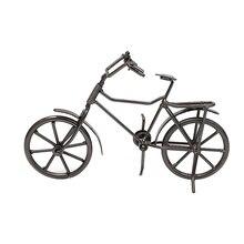 Figuras clásicas de Metal para bicicleta, figuras de escritorio, artesanías Retro para bicicleta, decoración en miniatura para el hogar, juguetes para niños, regalos de navidad