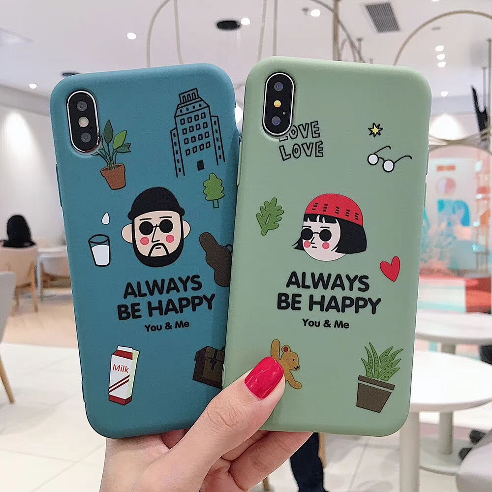 Cute Couple The Professional Killer Leon Phone Case for iPhone 7 8 6 6S Plus XS MAX Soft Silicone Covers for iPhone X XR XS MAX