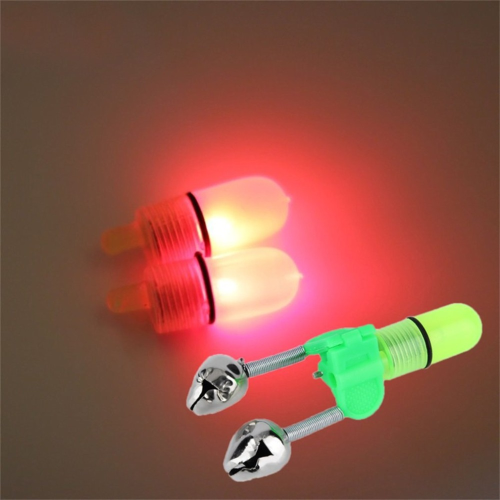 Luminous Sea Fishing Feeder Bell Twin Rod Tip Fishing Night Rod Tip Red Light Fish Bell Bite Alarm