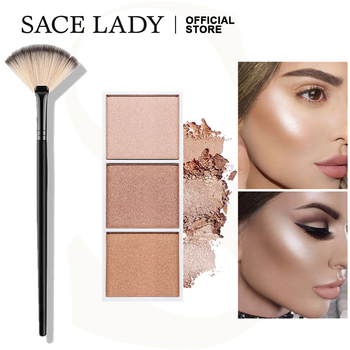 SACE LADY Highlighter Palette Illuminate Makeup Brush Face Shimmer Powder Brushes Professional Make Up Cosmetics Wholesale недорого