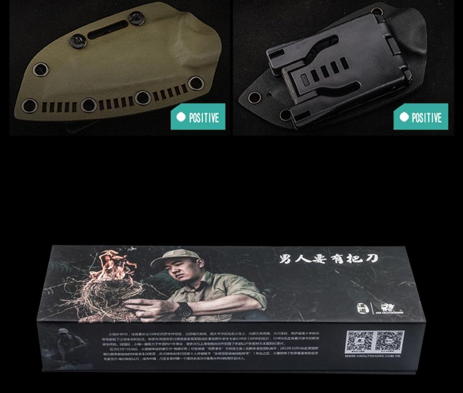 HX VÄLISÕNAD D2 nuga G10 käepide D2 terastera taktikaline sirge - Käsitööriistad - Foto 6