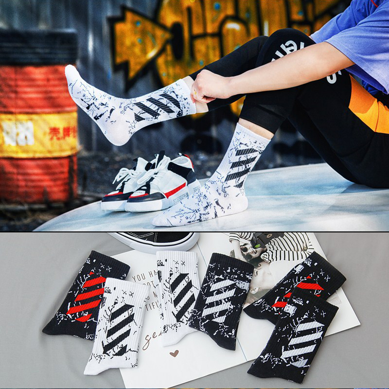 Original Design Barbed Wire Pattern Men And Women Socks Trend Fashion Street Hip Hop Style Cool Unique Socks Vintage Socks Cheap