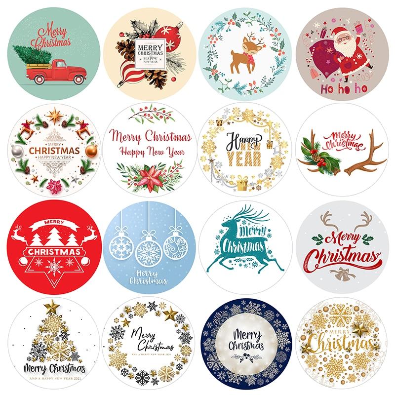 Новогодняя декоративная наклейка «Санта-олень»