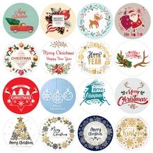 Feliz natal decoração adesivos santa veados embalagem vários selos etiqueta etiquetas para envelope ano novo festa de natal decoração presentes