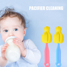 цена на 1pcs Baby Bottle Sponge Straight Brush Pacifier Cleaning Brush Universal YU-Home