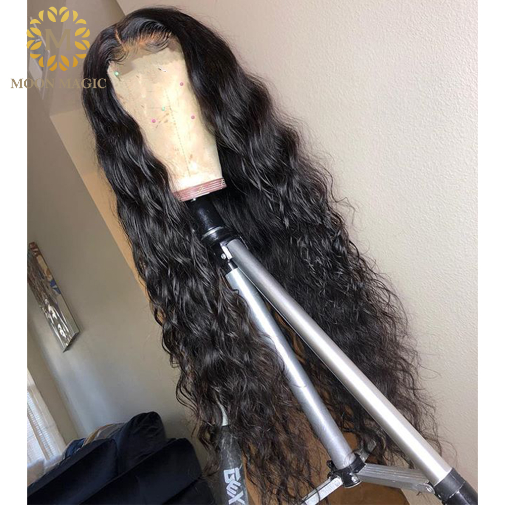 150 Brazilian Water Wave Human Hair Wig Glueless Full Lace Human Hair Wigs With Baby Hair Pre Plucked Virgin Ponytail Lace Wig