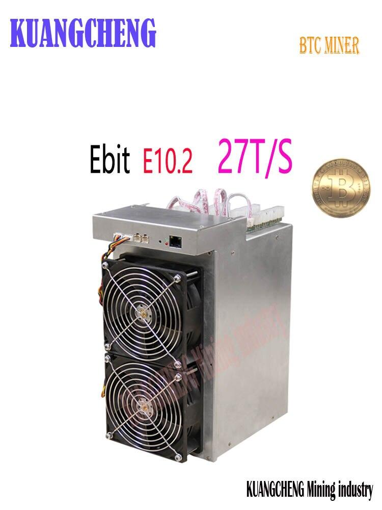 Новый BTC BCH Miner Ebit E10.2 27T Биткойн горная машина 10nm Asic Miner Ebit E10.2 27TBetter чем E9 + E10.3 Antminer S5 S7 S9