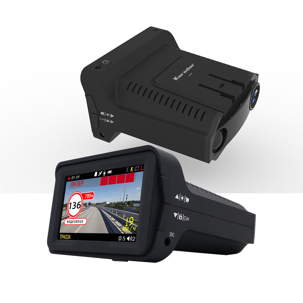 Karadar Video-Recorder Anti-Radar-Detector DVR Display Deshcam-Camera 140degree 3inch
