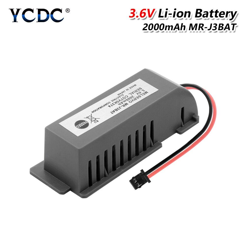 3,6 v Mr-j3bat batería de litio Li-ion 2000mah Er6vc119a/b con conector de enchufe para máquina Cnc Plc programador de Control de servidor 3S 20A 18650 Li-ion cargador de batería de litio Placa de protección 10,8 V 11,1 V 12V 12,6 V eléctrico 10A Lipo BMS PCB módulo PCM