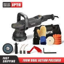 Spta 700w 5 polegada dupla ação polisher órbita 15mm polidor automático de velocidade variável polidor polir máquina casa diy carro polidor