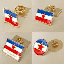 Герб Югославии карта национальный флаг эмблема брошь значки нагрудные знаки