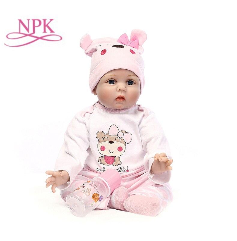 NPK recién nacido renacer muñecas del bebé de silicona suave muñeca de los bebés para niñas princesa chico de moda Bebe muñecas 55cm 40cm-in Muñecas from Juguetes y pasatiempos    1