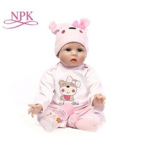 Image 1 - Npk 신생아 다시 태어난 아기 인형 실리콘 귀여운 부드러운 아기 인형 소녀 공주 아이 패션 소녀 bebe reborn dolls 55cm 40cm