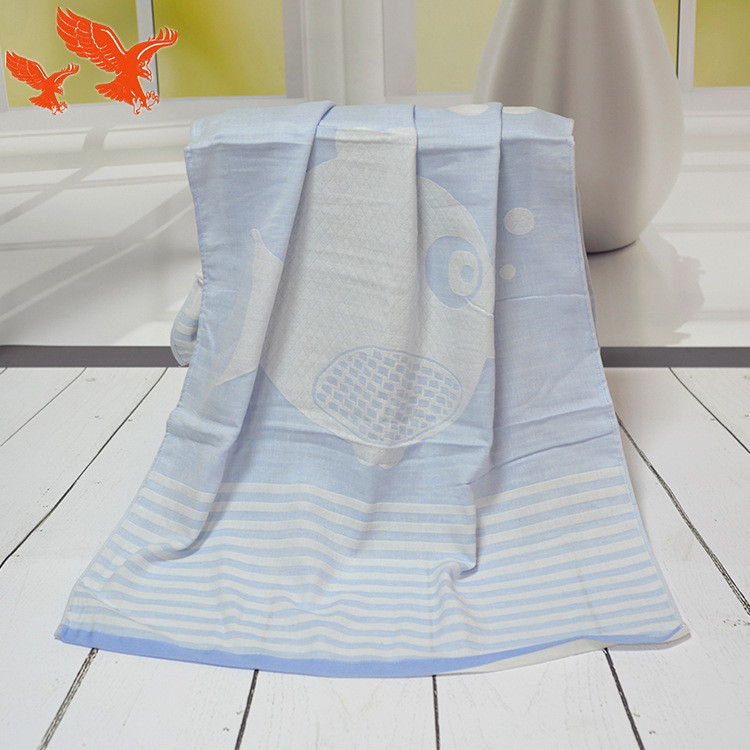 Pure Cotton Gauze Bath Towel 2-Story Baby Wraparound Cloth Newborns Baby Swaddle Trolley Seat Blanket Water Absorbent Bath Towel