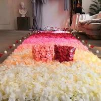500g Silk Rose Artificial Flowers Bride To Be Wedding Decoration Petals Table Flowers Bachelorette Party Decoration C1284 j