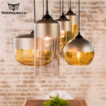 Minimalism Post-modern Bar Pendant Lights Nordic Glass Light Kitchen Dining Room Hanging Home Deco Fixtures