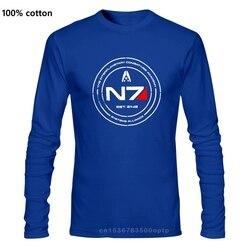Cheap Pricing Men Mass Effect N7 Cadet T Shirt Tees Shirt Long sleeve Custom Designer T Shirt Teenagers Big Tall Size Tee