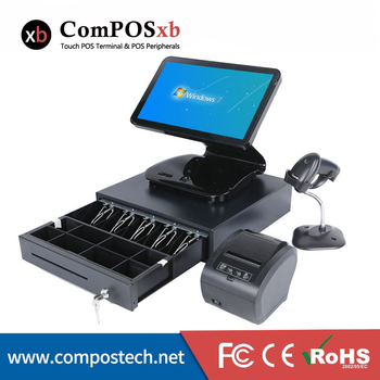 15.6 inch touch screen pos touch all in one pc cash register pos point of sale system for supermarket