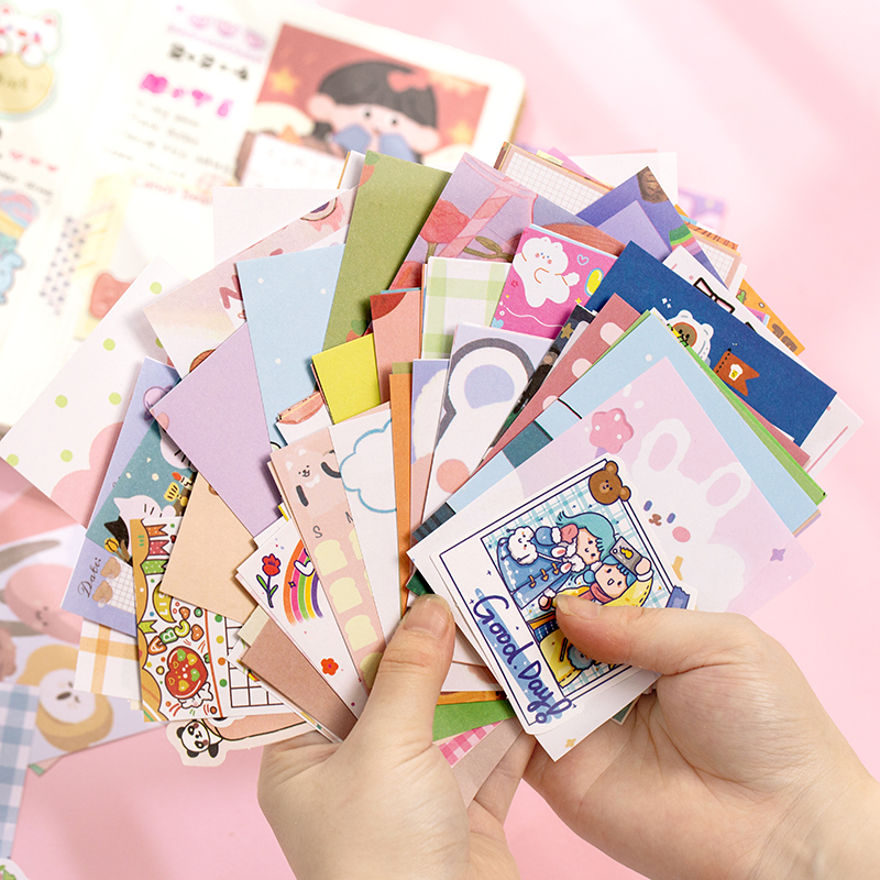 200pcs/lot kawaii Notepad Writable Loose-leaf paper Stationery Decoration Scrapbooking Office for School 2020 Memo Pad Bookmarks