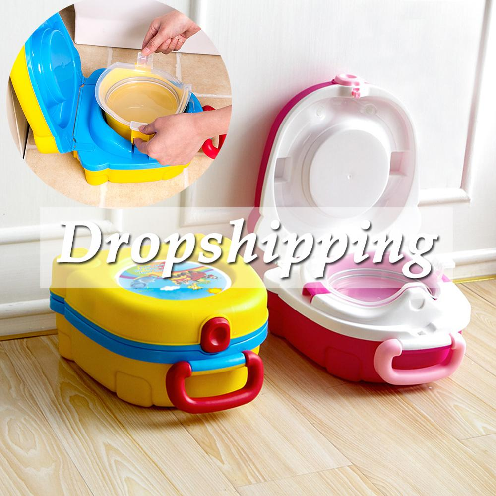 Convenient Baby Toilet Cute Portable Travel Car Infants Potty Training Children Pot Baby Travel Toilet Seat Kids Outside Toilet