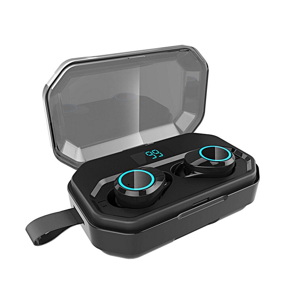 X6 Bluetooth 5.0 Earphones Wireless Stereo Music Headphone Mini HiFi Sound Sport Headset IPX6 Waterproof w/ 3000mAh Charging Box