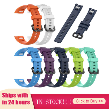 Silicone Wrist Strap For Huawei Honor Glory 5 Smart Sport Bracelet Strap For Huawei Honor Band 4 5 Smart Bracelet For Dropship image